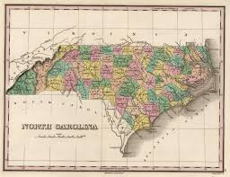 North Carolina Map Nc Cartobibliography Anthony Finley North Carolina Map