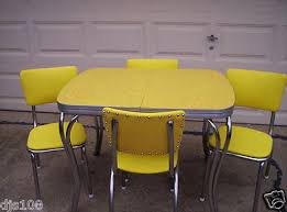 retro yellow kitchen table pink dining table plan about amusing yellow formica table and chairs