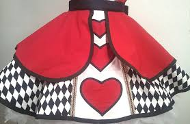 Queen Hearts Size Halloween Costume Size Queen Hearts Pin Costume Apron Woman U0027s
