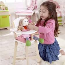 Wooden Doll High Chair Hape Wooden Baby Doll Highchair Play Baby Cradle Diaper