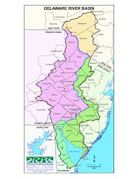 Bucks County Map Map Delaware River Basin With County Boundaries Pike County