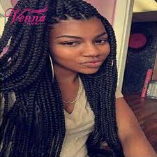 box braids hairstyle human hair or synthtic lace box braids wig synthetic black hair heat resistant braids