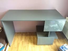 bureau gris laqué achetez bureau gris laqué je occasion annonce vente à pessac 33
