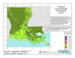 louisiana elevation map louisiana wind resources version open energy information