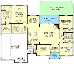 split bedroom house plans split bedroom house plan with open floor plan 11797hz