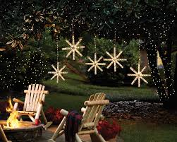 outdoor hanging snowflake lights craft ideas lighted snowflake