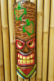 tribal hawaiian tiki bar new vibrant colors 20