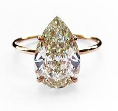 pear shaped ring 2 50ct pear shape diamond set in a simple gold wire band