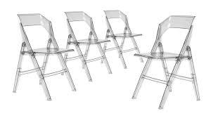 chaises pliables lot de 4 chaises pliantes fyrisan en polycarbonate intérieur