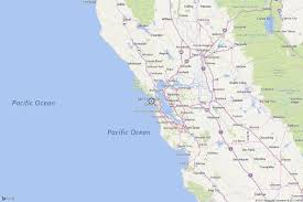 San Francisco On World Map by Earthquake Magnitude 3 0 Quake Strikes Offshore Near San