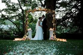 wedding arches tasmania outdoor wedding ceremony backdrop arch wedding decorations
