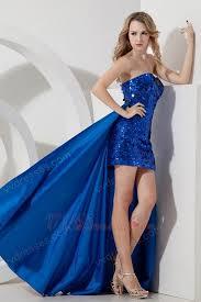 powder blue sequin high low detachable skirt prom dress 2014
