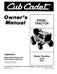cub cadet lawn mowers 1512 882 pdf user u0027s manual free download