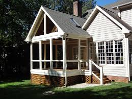 House Plans With Screened Porch Screened Porch Raleigh Nc Gable Roof By Wilmington Deck And