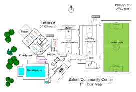facility floor plan salem community center building map