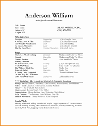 personal resume template actor resume template best of lovely acting resume template personal