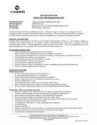 resume profile exles linux administration sleume unix systems administrator exles
