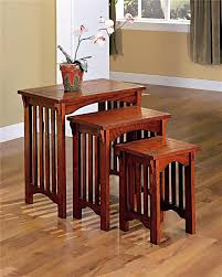 Mission Style Dining Room Set by 3 Piece Nesting Table Table Set Nesting Tables