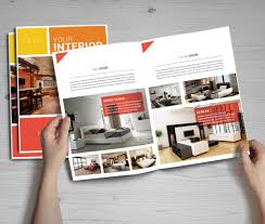 home decor free catalogs furniture catalogs online bifold brochure mockup templates psd