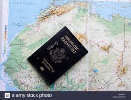 Map Of Northern Africa by Diplomatic Passport Of The United States Of America On A Map Of