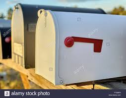 Position Of Flags White Mailbox With A Red Flag In The Down Position With Shallow