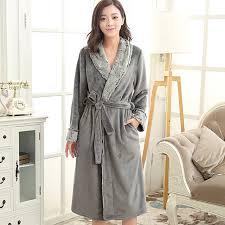 robe de chambre douce amoureux de luxe fourrure douce comme de la soie longue peignoir