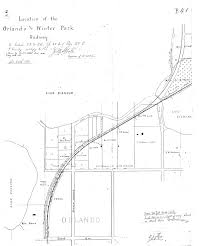 Orlando Urban Trail Map by Following The Dinky Train College Park Community Paper