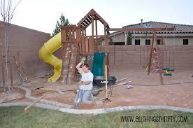 backyard swing set landscaping backyard