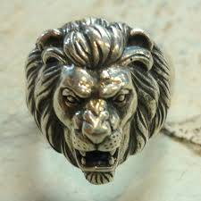 acrylic lion ring holder images Sterling silver lion ring animal ring lion head ring chunky etsy jpg