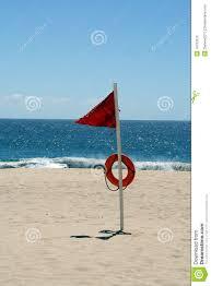 Beach Flag Pole High Hazard Beach Warning Flag Stock Image Image Of Flag Nature