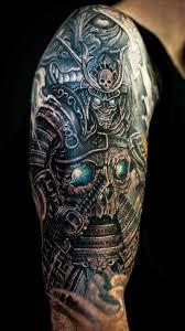 sleeve skull tattoos samurai search samurai tribal