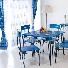 mediterranean blue dining decor home lifestyle summer