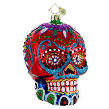 christopher radko skull ornaments radko la calavera