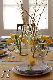 centerpiece for dinner table dinner table center pieces with yellow tulip decoration for