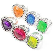 plastic rings images Fancy gem rings pk6 party bag pack 6 fun plastic childrens