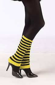 mardi gras leg warmers bumblebee arm leg warmers