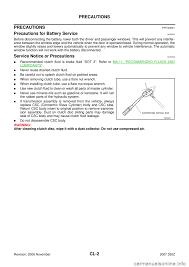 nissan 350z 2007 z33 clutch workshop manual