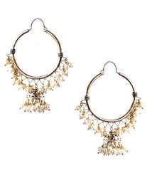mississippi earrings mississippi earrings classic silver hoop rava jhumkas buy