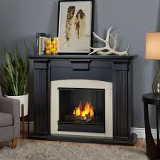 real flame adelaide 51 in ventless gel fireplace in blackwash