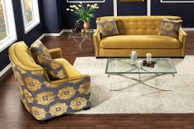 Gold Fabric Sofa Sm2211 Federico Sofa In Gold Tone Fabric W Options