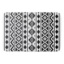 black white aztec bath mats u0026 rugs zazzle