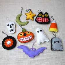 halloween tree decorations halloween felt ornaments ghosts