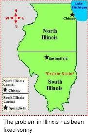 chicago map meme lake michigarn chicagd illinois springfield prairie state