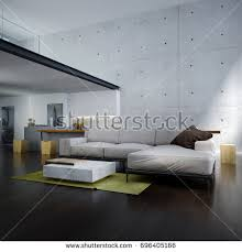 lounge double space living room kitchen stock illustration