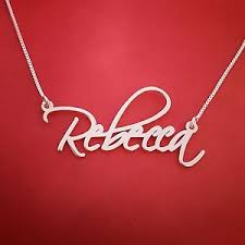 Name Necklace Silver Rebecca Name Necklace Silver Nameplate Chain New Store Sale
