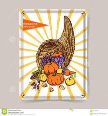 thanksgiving cornucopia clipart sketch thanksgiving cornucopia stock vector image 59167693