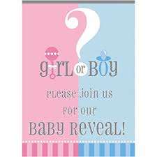 reveal baby shower gender reveal invitations 8ct kitchen dining