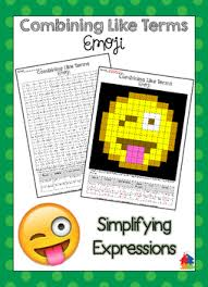 combining like terms emoji by teachers r us homeschool tpt