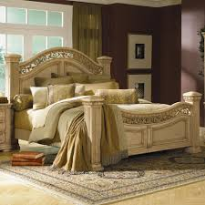 Marlo Furniture Rockville Maryland by Flexsteel Wynwood Collection Antiguo Blanco King Mansion Bed
