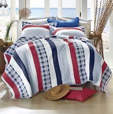 Nautical Quilts Nautical Red White U0026 Blue Stripe Quilt Set